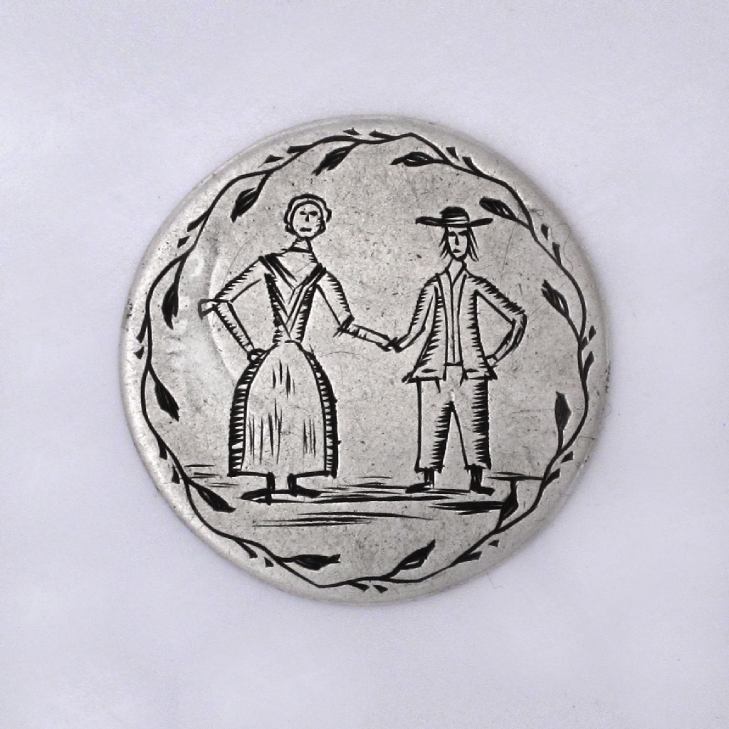 SOLD - An Early American Silver Love Token