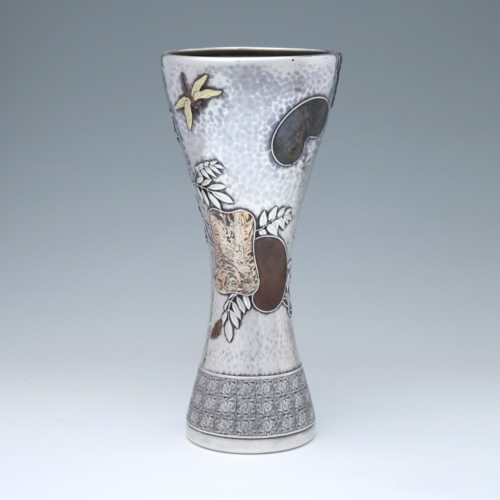 Sold a silver and mixed metal japanese style vase by tiffany sold a silver and mixed metal japanese style vase by tiffany co designed by edward c moore reviewsmspy