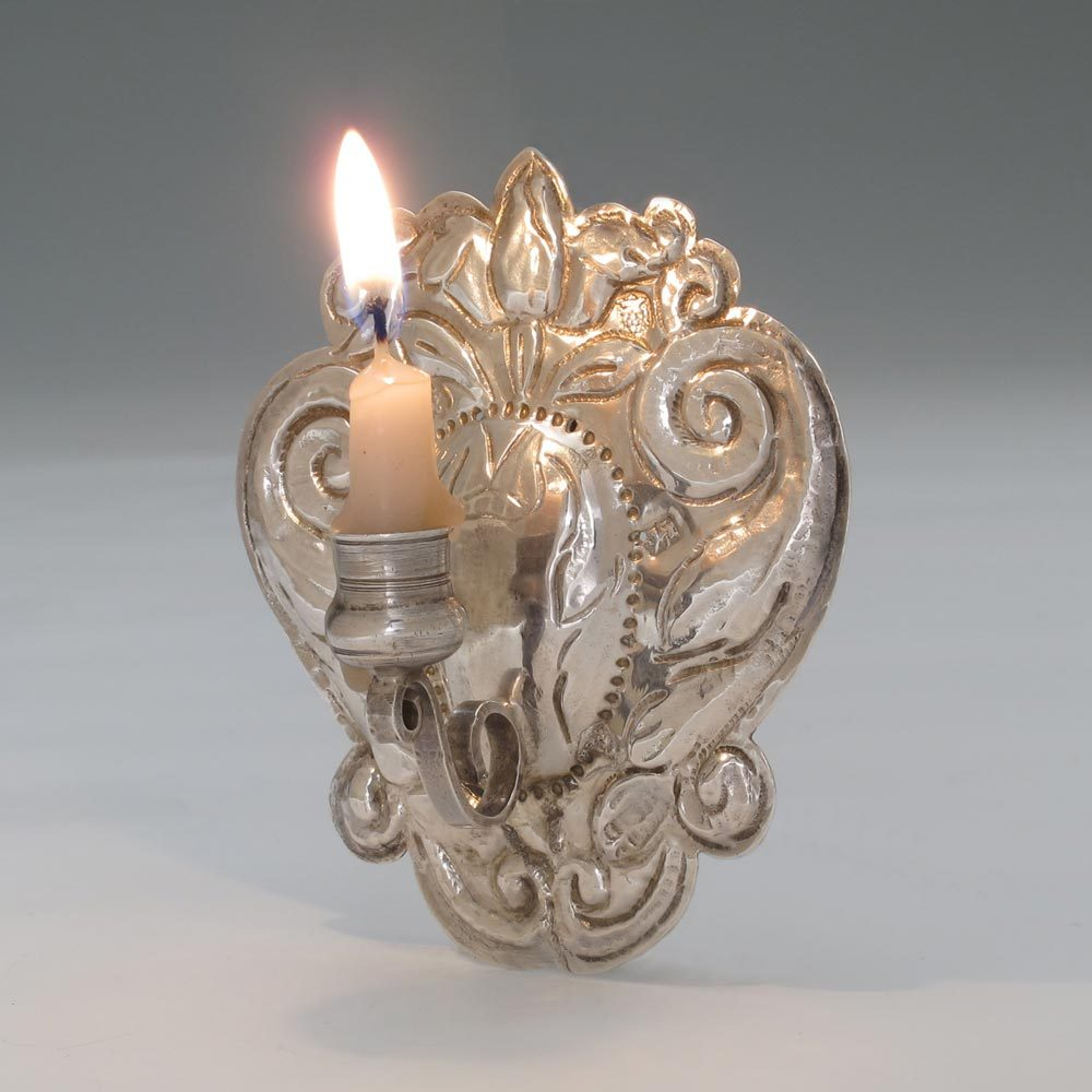 A William III Antique English Silver Miniature Wall Sconce