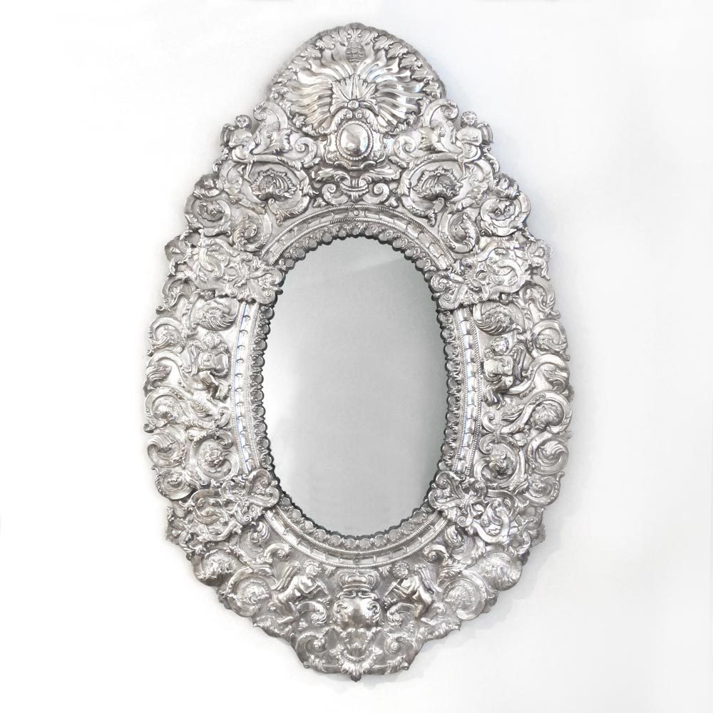 A Silver Mounted Mirror