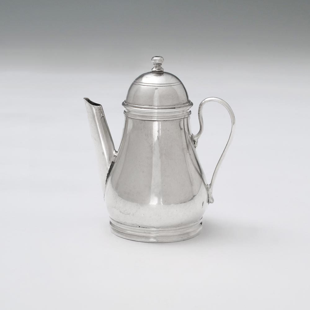 A George I Antique English Silver Toy Coffee Pot