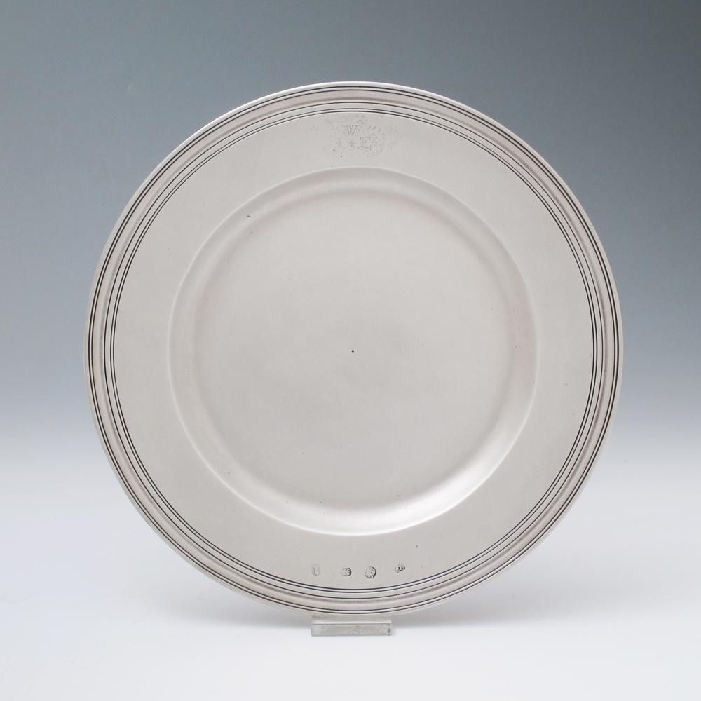 A James II Antique English Silver Plate