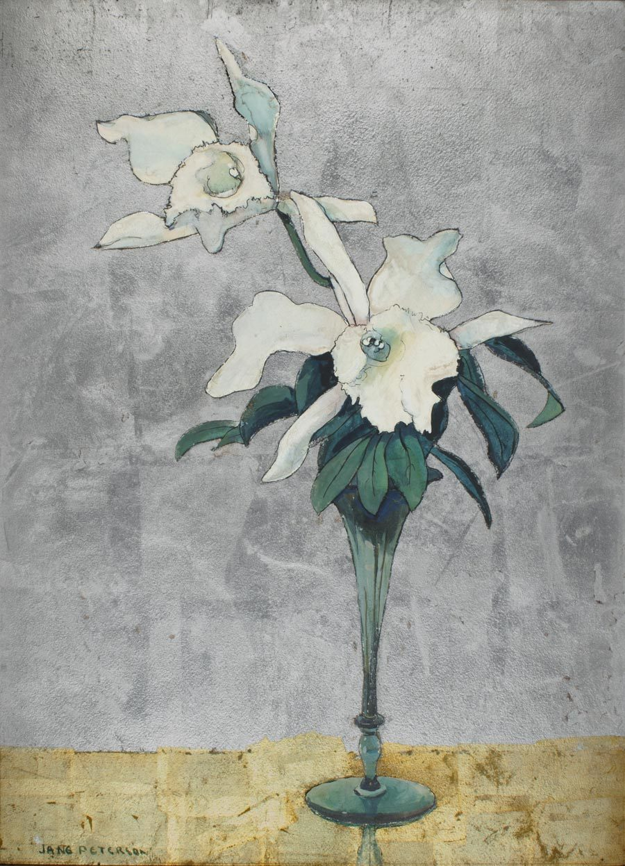 SOLD - A Watercolor Painting of White Orchids