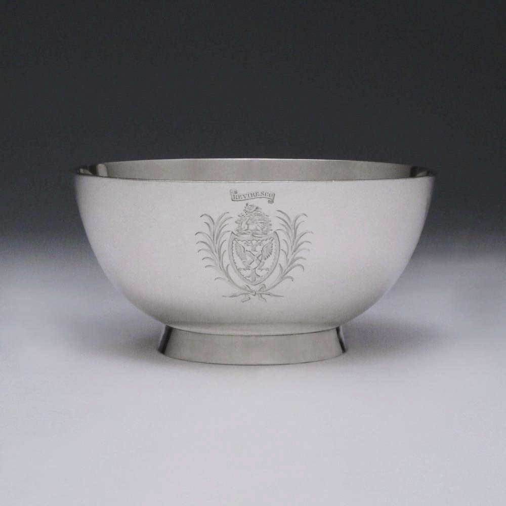 SOLD - A George III Antique English Silver Bowl