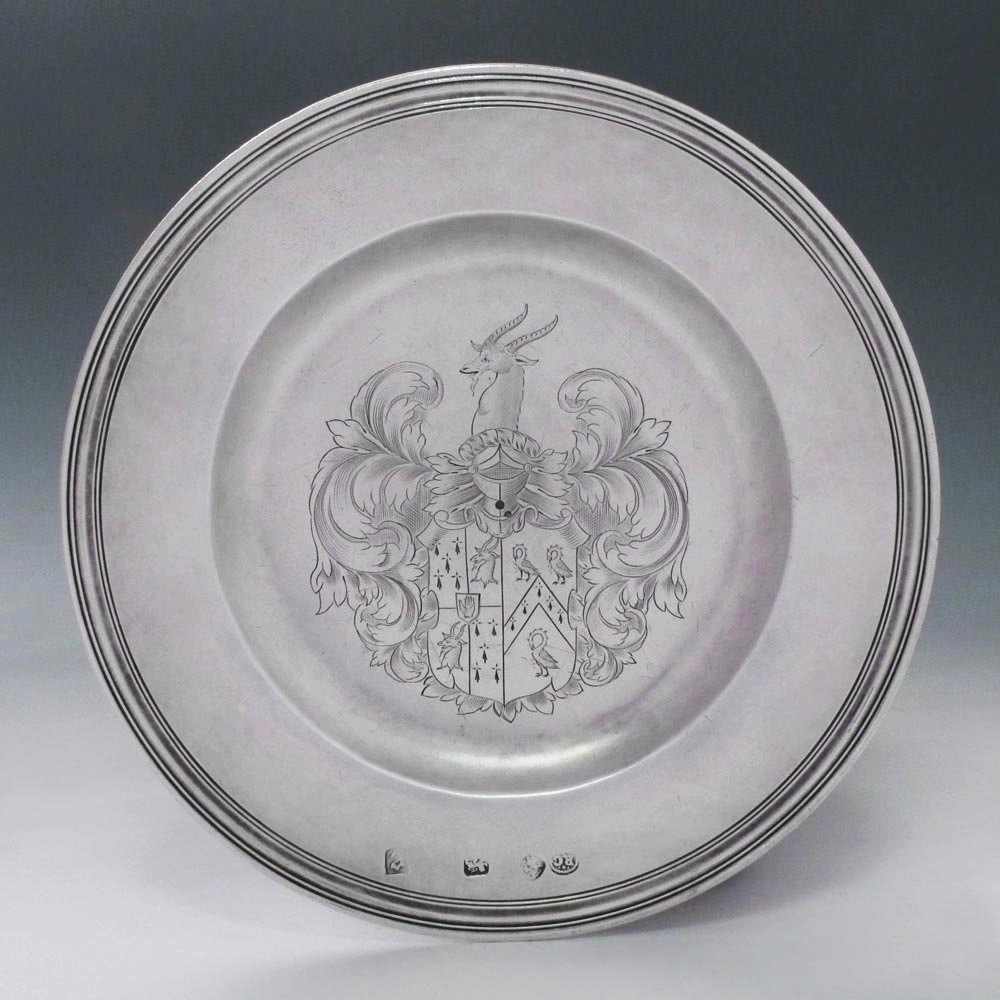 SOLD - A Charles II Antique English Silver Paten