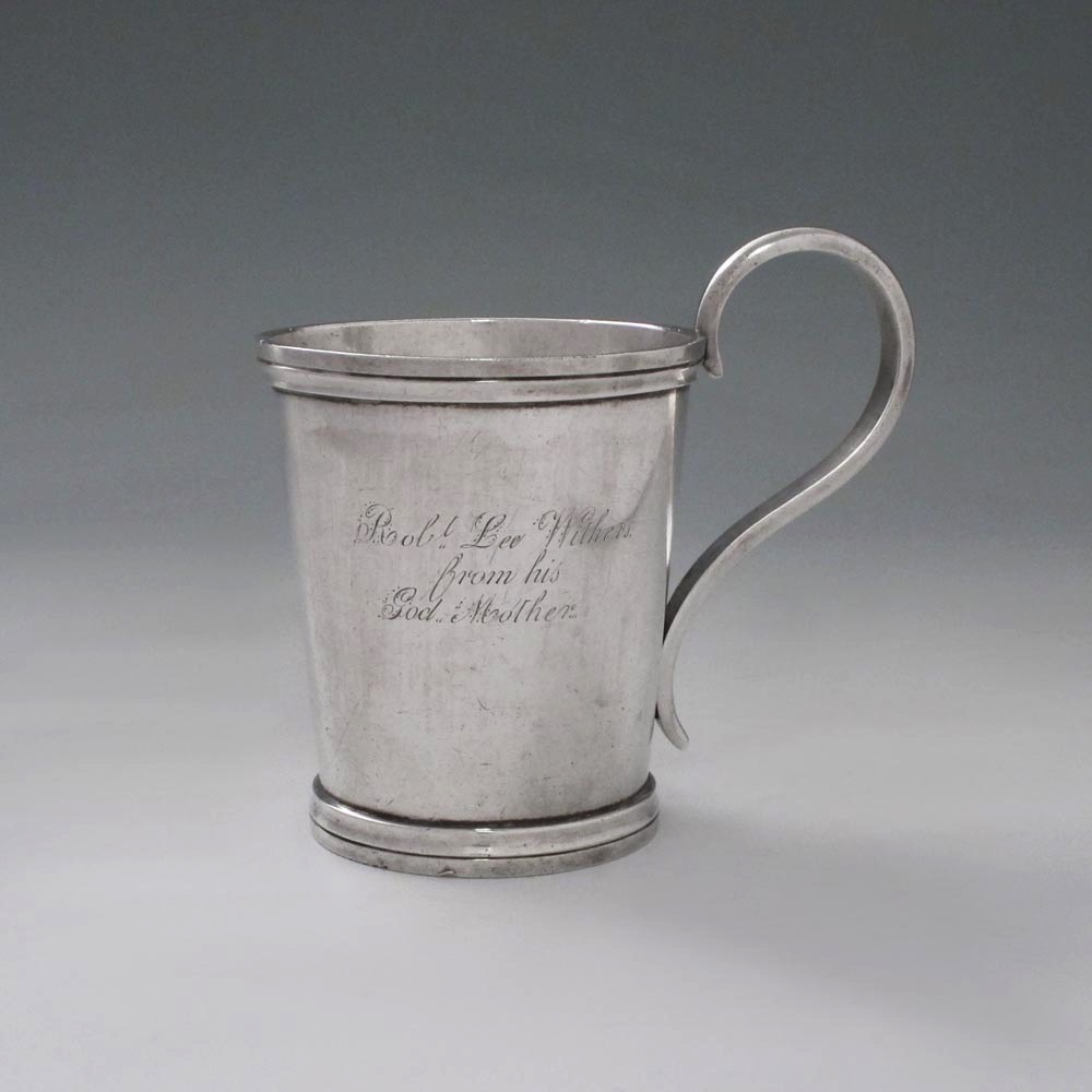 SOLD - An Antique American Silver Mug of Southern Origin