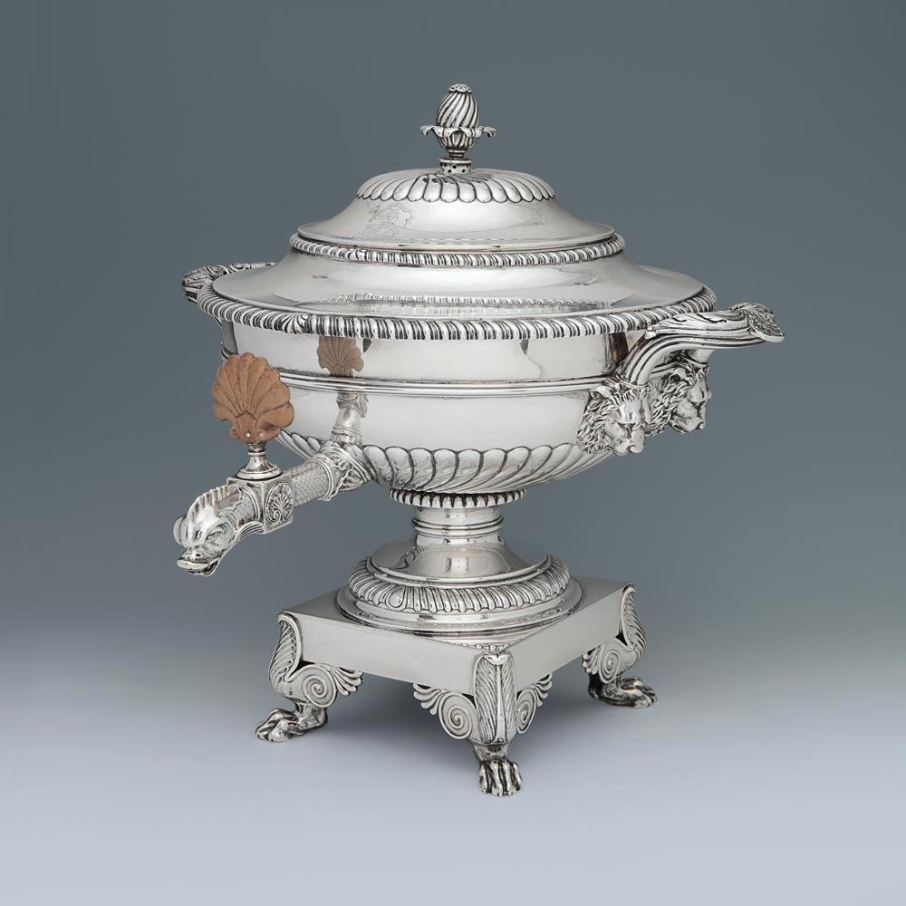 A George III Antique English Silver Tea Urn