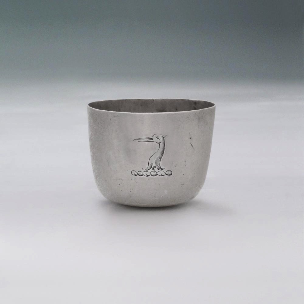 SOLD - A William III Antique English Silver Child's Tumbler