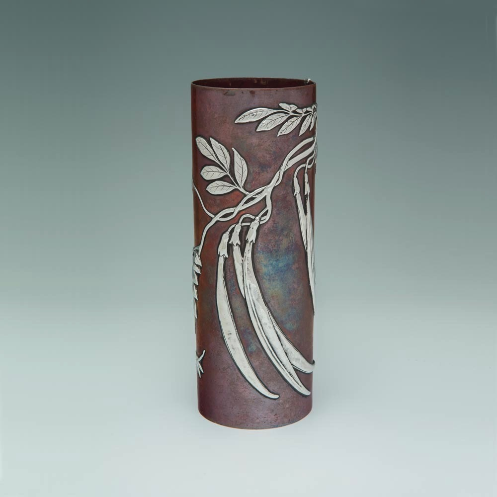 SOLD - An American Japonisme Mixed-Metal Vase