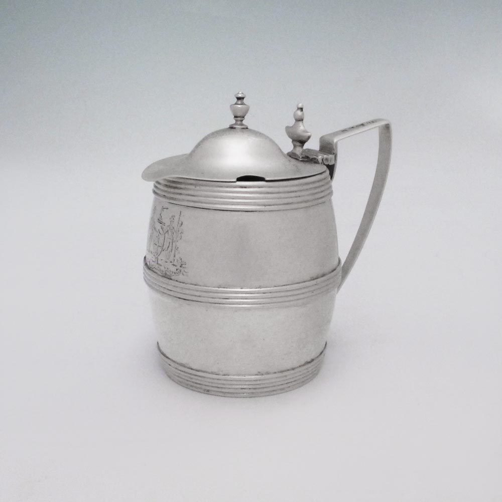 A George III Antique Scottish Silver Mustard Pot