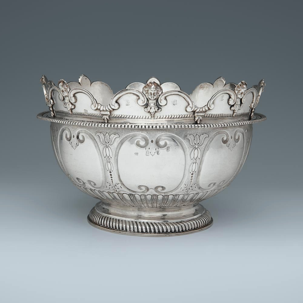 A William III Antique English Silver Monteith Bowl