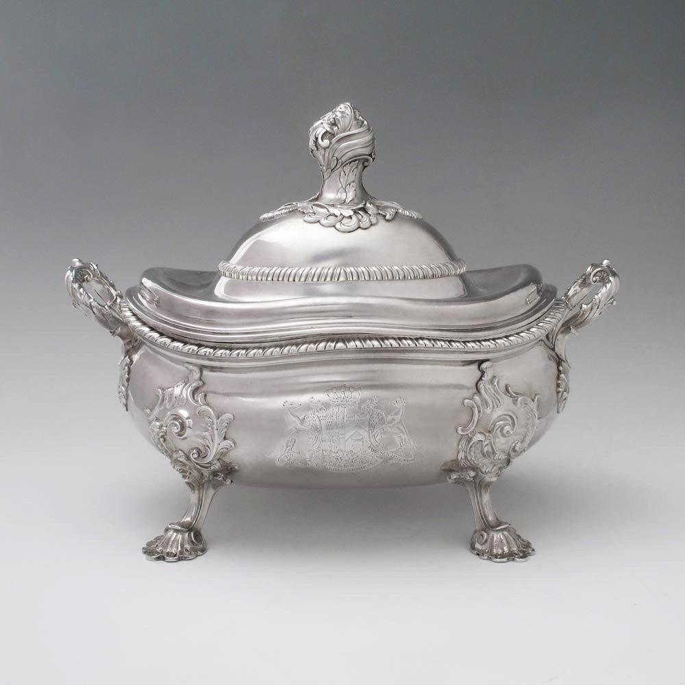 A George II Antique Irish Silver Soup Tureen and Cover