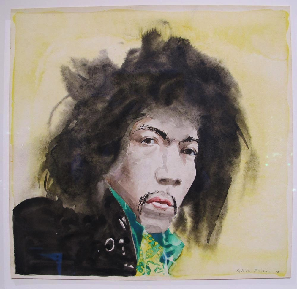 Patrick Procktor: Watercolor of Jimi Hendrix