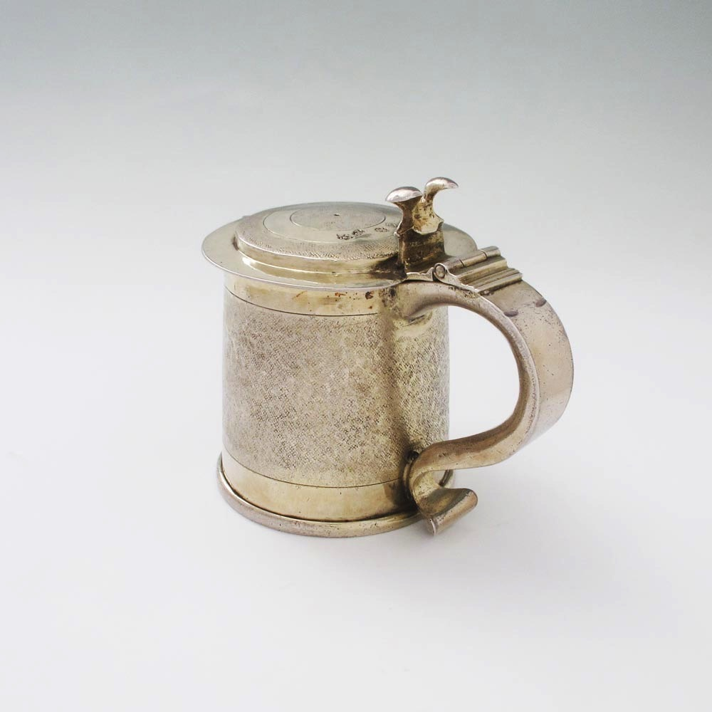 SOLD - A Charles II Antique English Silver Tankard