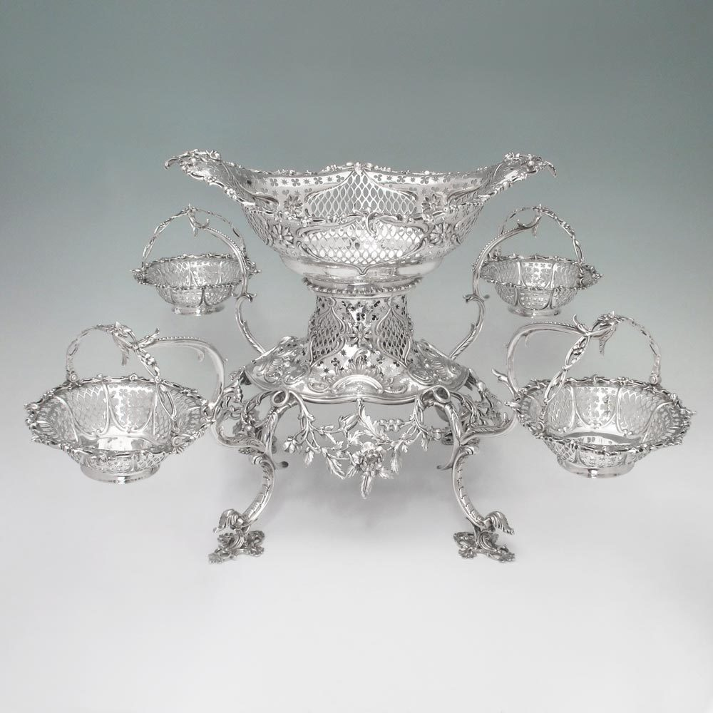 A George III Antique English Silver Epergne