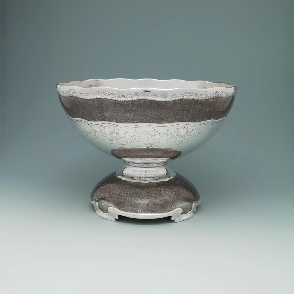 A Large American Silver and Mokume Bowl