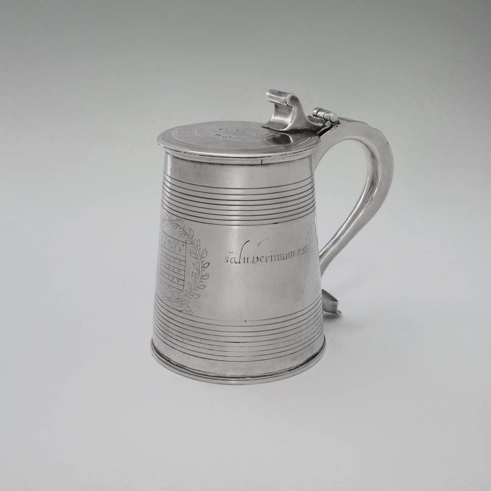 SOLD - A Charles I Antique English Silver Tankard