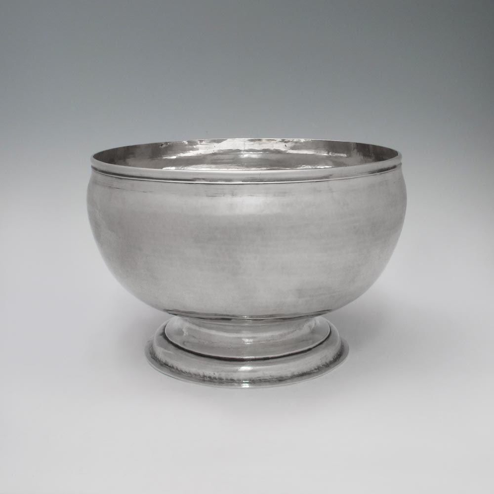 A George I Antique English Silver Punch Bowl
