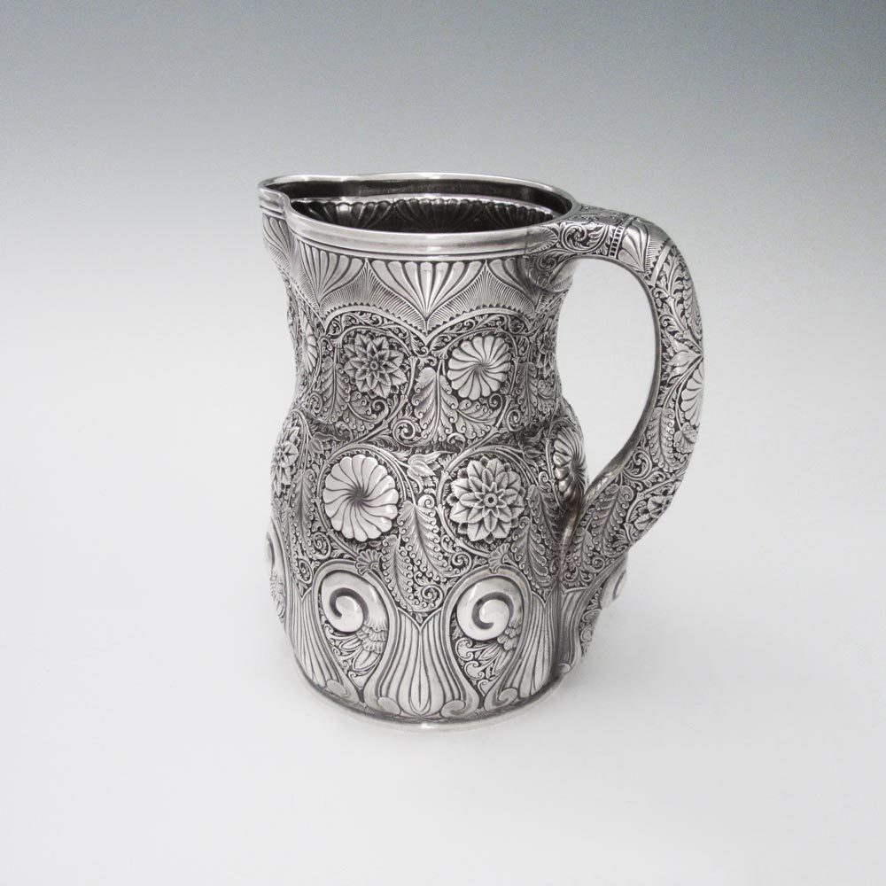 SOLD - An Antique American Silver Water Pitcher