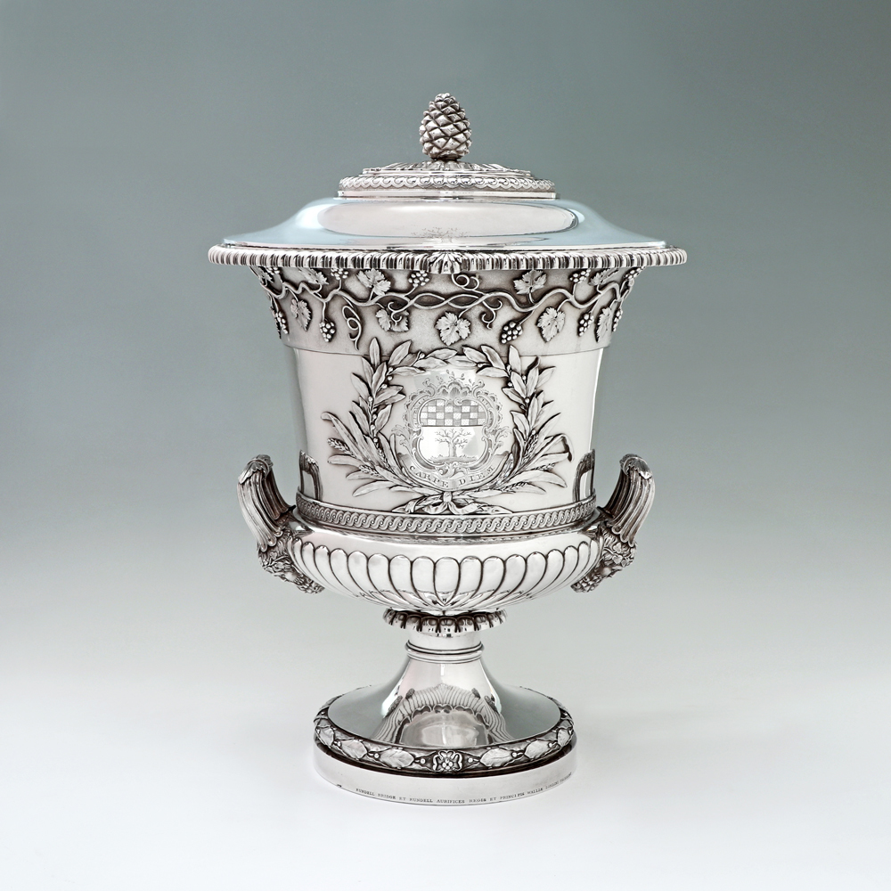 A George III Antique English Silver Cup and Cover