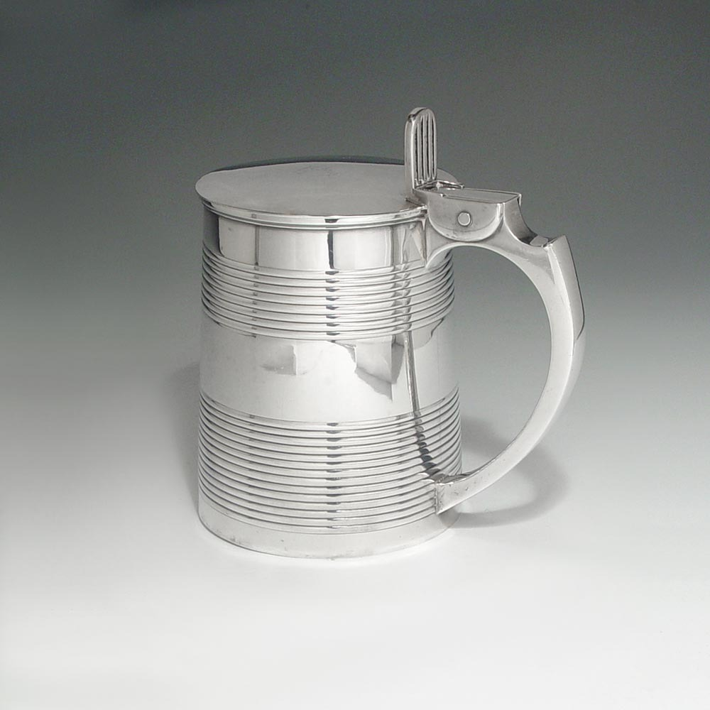 SOLD - A George III Antique English Silver Tankard