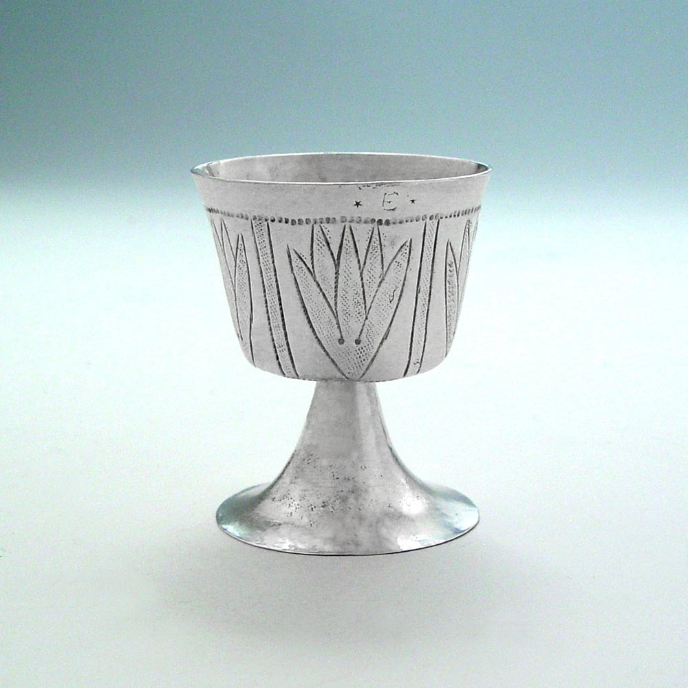 SOLD - A Commonwealth Antique English Silver Wine Cup
