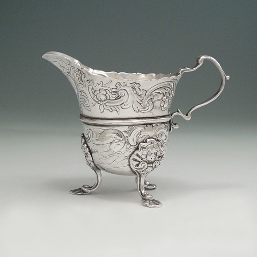 SOLD - A George III Antique Irish Provincial Silver Creamer