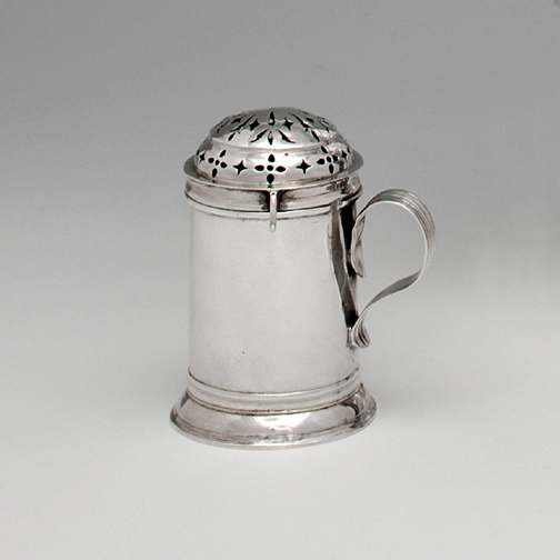 SOLD - A Queen Anne Antique English Silver Kitchen Pepper