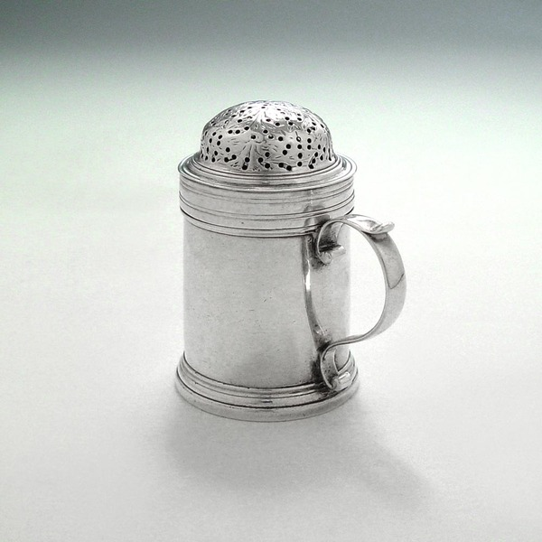 SOLD - A George II Antique English Silver Kitchen Pepper