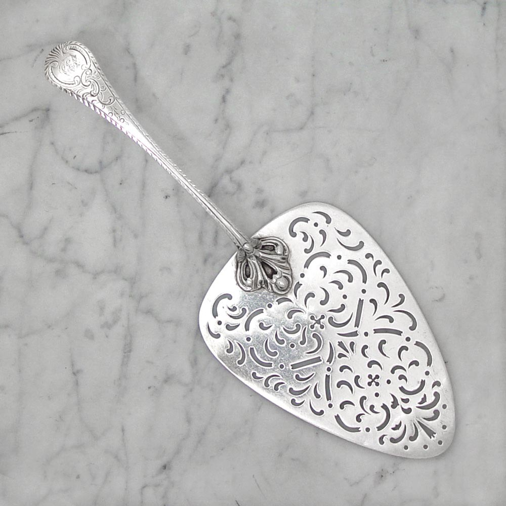 A George III Antique English Silver Fish Slice