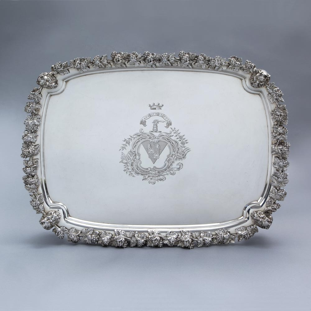An Exceptional George III  Antique English Silver Salver