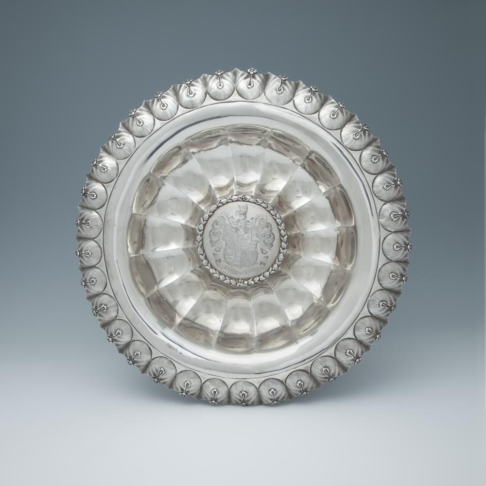 A William IV Antique English Silver Sideboard Dish