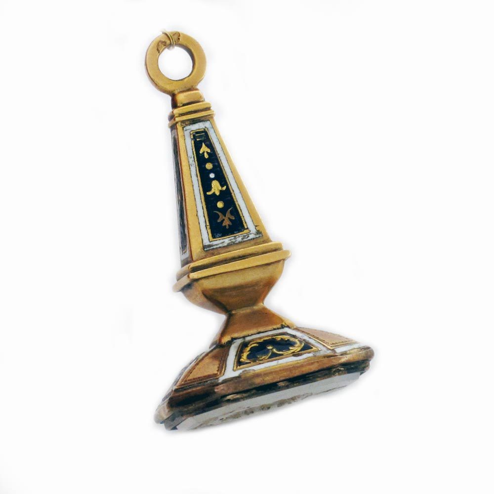 A Gold & Enamel Fob Seal