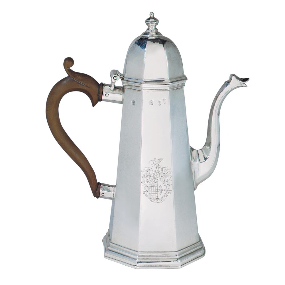 A George I Antique English Silver Coffee Pot