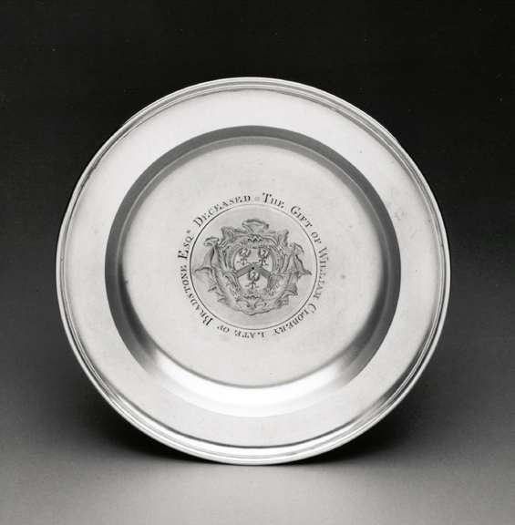 A George II Antique English Silver Alms Dish